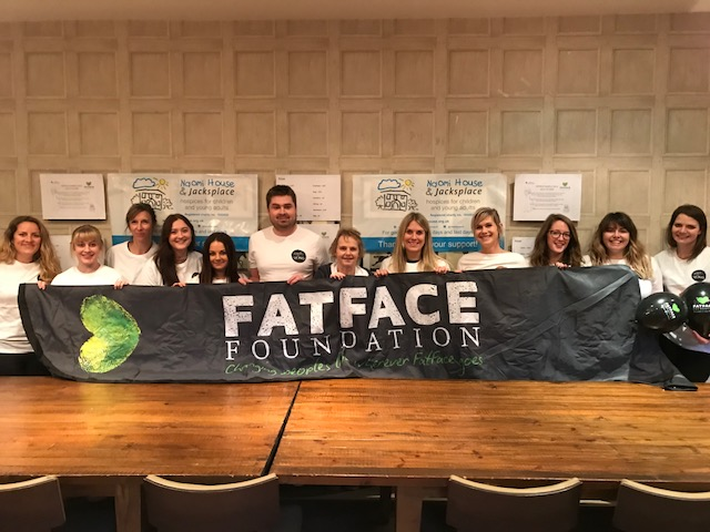 """c884318b76 Fat Face Clothing Headquarters, based in Havant, chose Naomi House &  Jacksplace as their """"Charity of the Month"""" as part of their """"Thanks for  Giving"""" ..."""