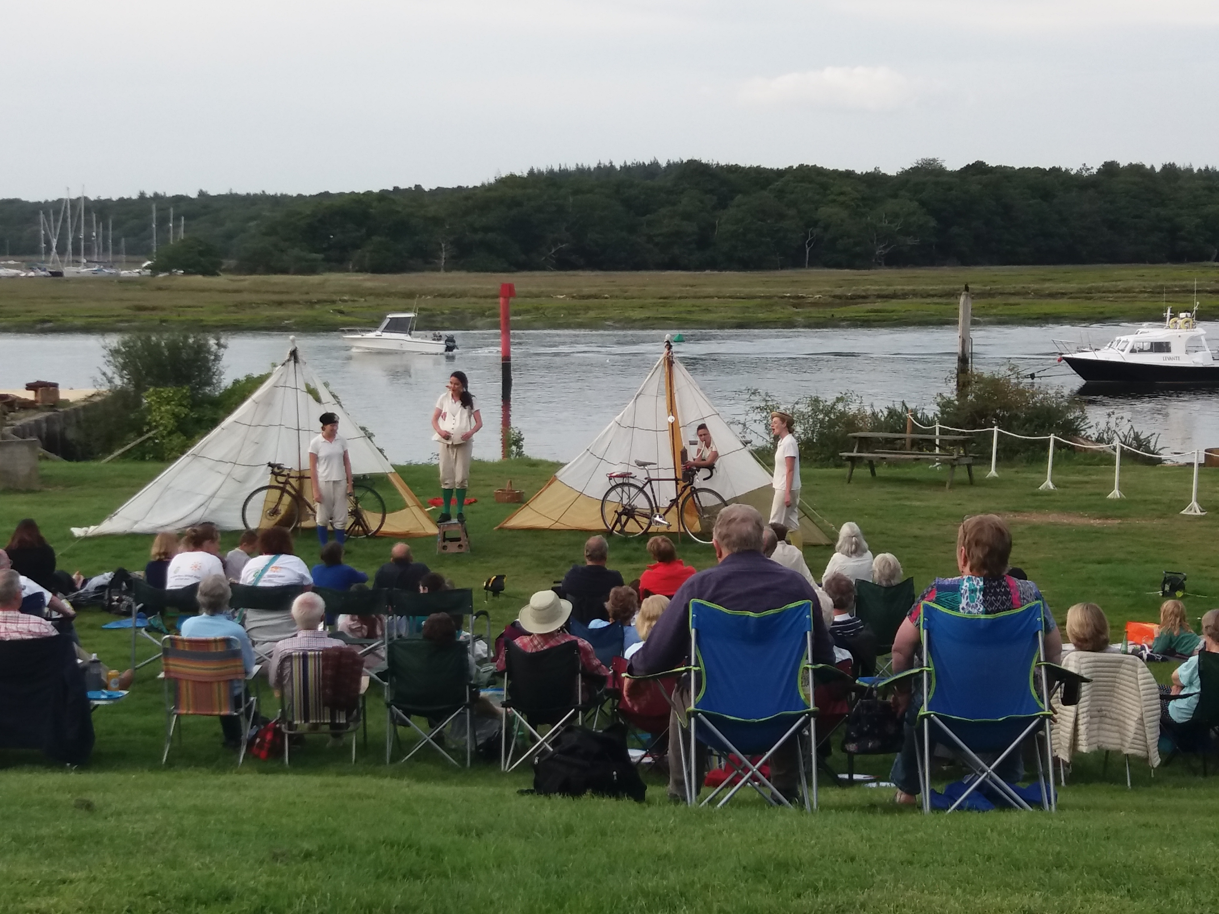 The HandleBards at Buckler's Hard performance