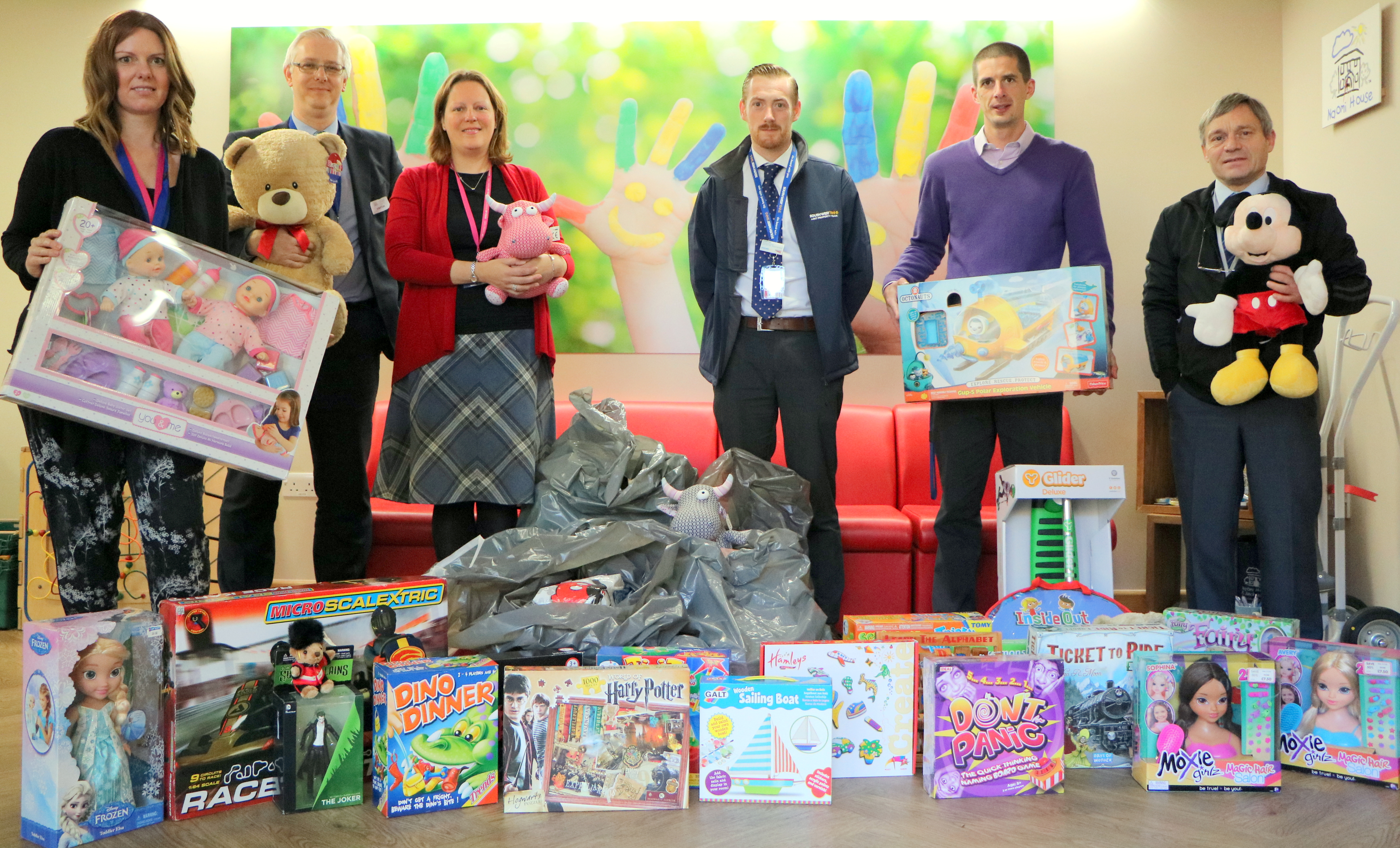 South West Trains toy donation